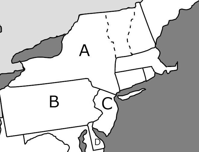 New England Colonies - ProProfs QuizBlack And White Delaware Colony Map