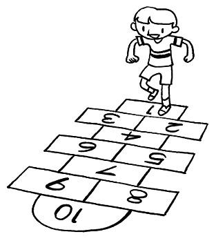 Hopscotch Clipart Black And White Cartoon hopscotch related keywords ...
