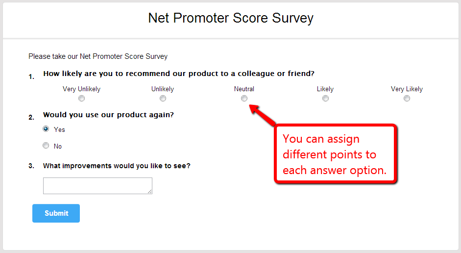 net promoter score survey template survey maker knowledge base