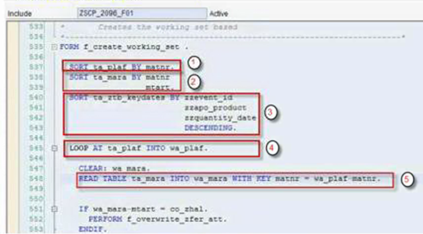 Binary search abap sort