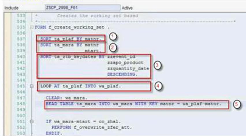 Read binary search abap