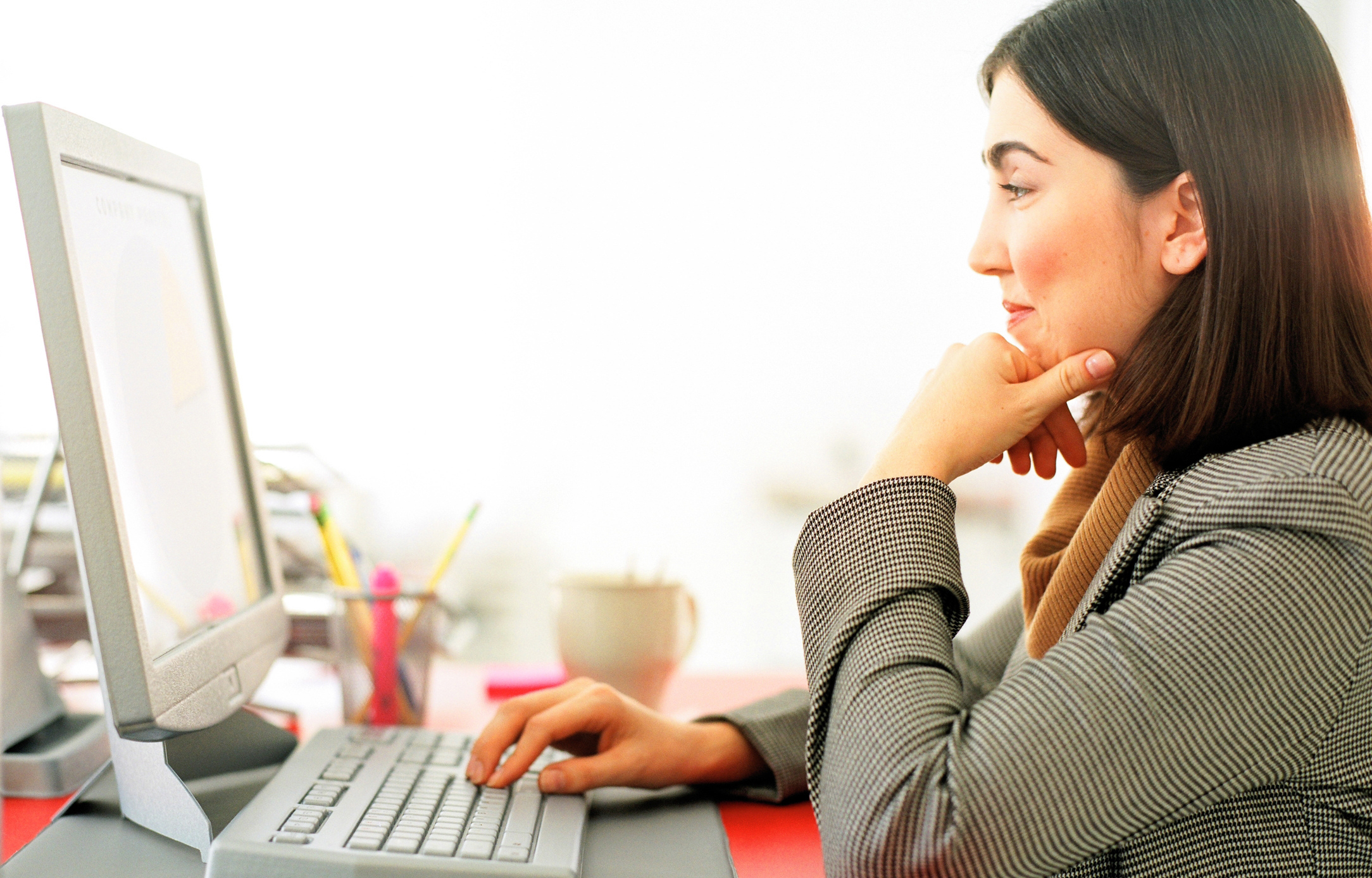 Person Using Computer