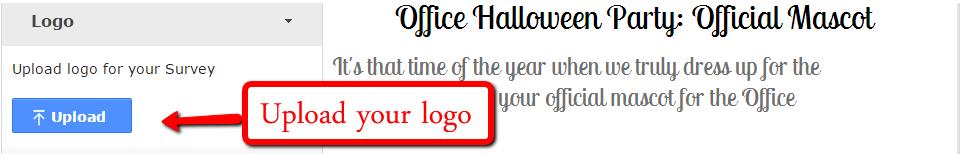 Upload a logo for your survey