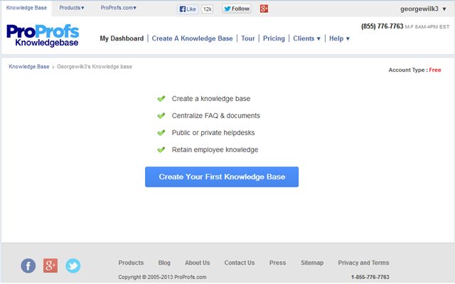 ProProfs Knowledge Base is used by millions to help customer services and FAQ.