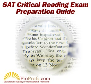 SAT Critical Reading Study Guide
