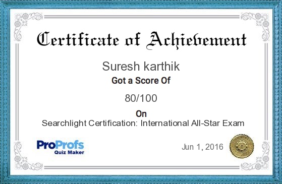 Searchlight Certification: International All-Star Exam