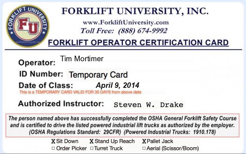 Certification License