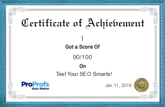 "Pendem Raju, Digital Marketing Expert in Hyderabad is Scored 90% in SEO Quiz Challege and acquired SearchEngineLand ""Expert"" Certificate"