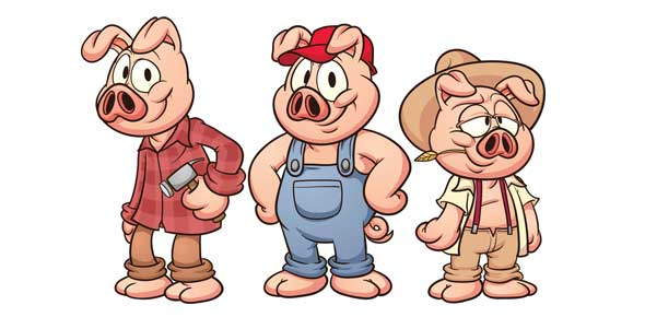 Three little pigs characters printable