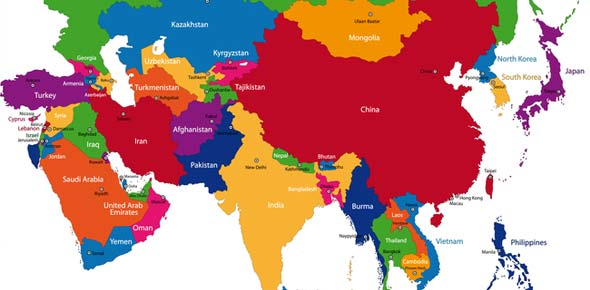 World Geography South Asia Unit 8 Countriescapitals ProProfs Quiz – Asia Map with Capitals and Countries