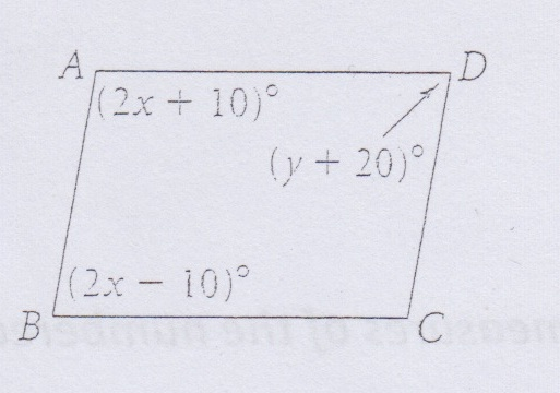 how to find the value of h for a parallelogram