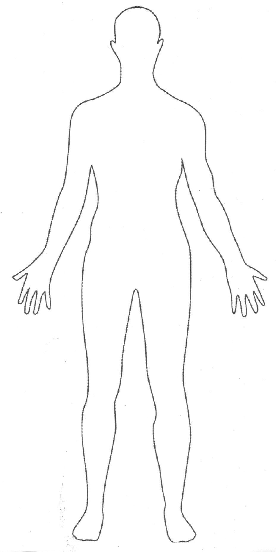 printable outline of a body