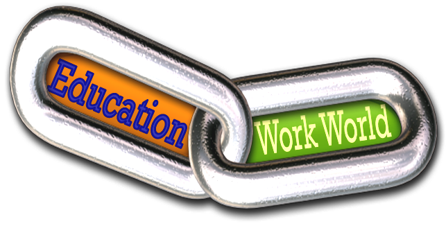 link between education and the work world