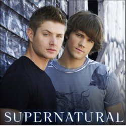 Dean (left) and Sam (right) as played by Jensen Ackles and Jared Padalecki on the television series, Supernatural.