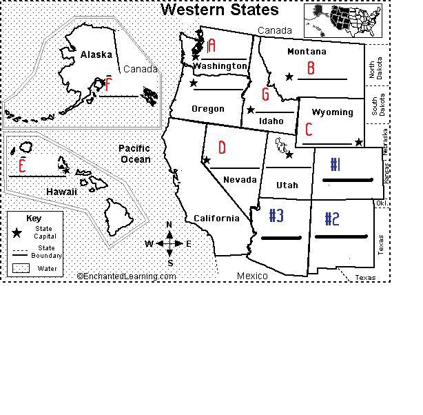 The Western States Capitals Abbreviations ProProfs Quiz – Map Usa Quiz Capitals