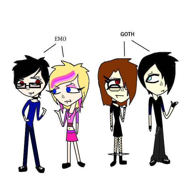 goth vs emo Tl:dr (assumption)- goth: the world sucks emo: my life sucks https://www youtubecom/watchv=qhdrpvibfzw goth is a culture it's not about hating the  world.