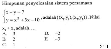 Matematika System Persamaan Proprofs Quiz