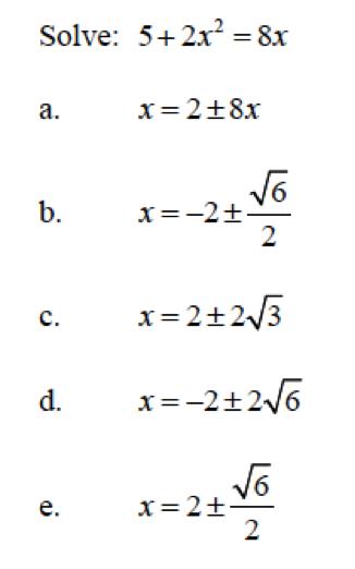 Pre-calculus Final Exam Part 2 - ProProfs Quiz
