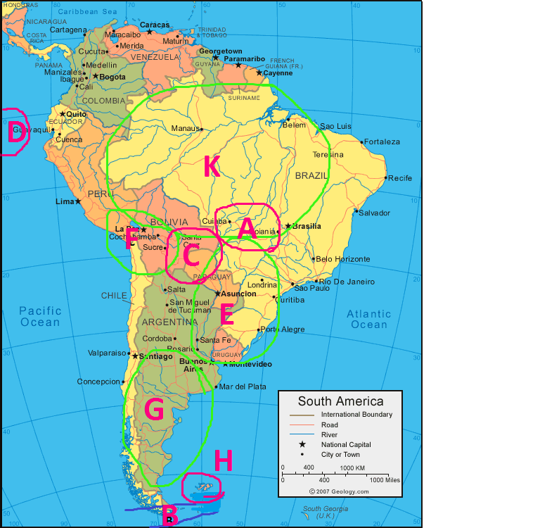 North And South American Physical Geography ProProfs Quiz