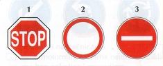19. Koji od prometnih znakova zabranjuje promet u oba smjera? Upišite
