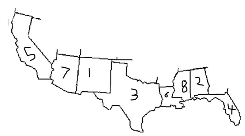 Southern States Quiz ProProfs Quiz – Map Usa Quiz Capitals
