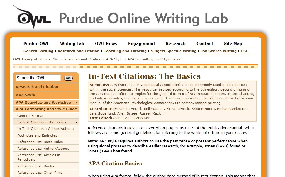 Apa Online Dissertation Citation