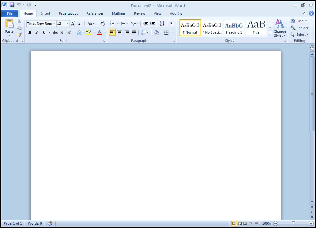 Edit Template Word010 Microsoft Word 2010 Parts Microsoft Word 2010 Test