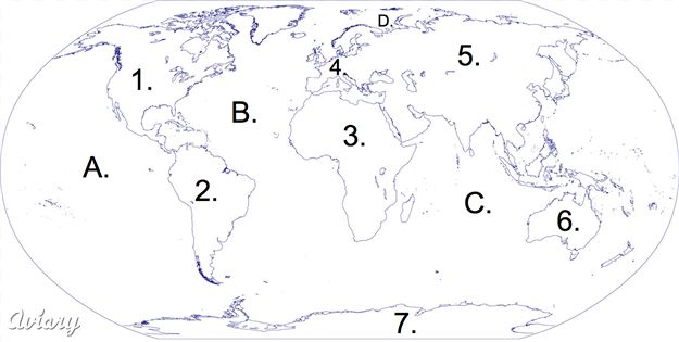 7 continents kurgara best photos of world map continents and oceans world continents blank map gumiabroncs Images