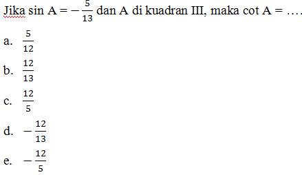 Ulangan trigonometri kelas x6 proprofs quiz 3 ccuart Images