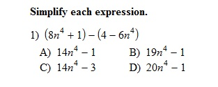 2/18 Alg:: Add, Subtract, Multiply Polynomials [40]