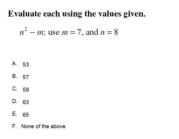 Alg 4/10/2014 Evaluating Expressions 3 [20]
