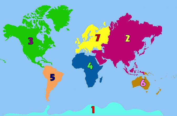 Science final geography practice test proprofs quiz use the map below to name the seven continents continent 1 gumiabroncs Gallery