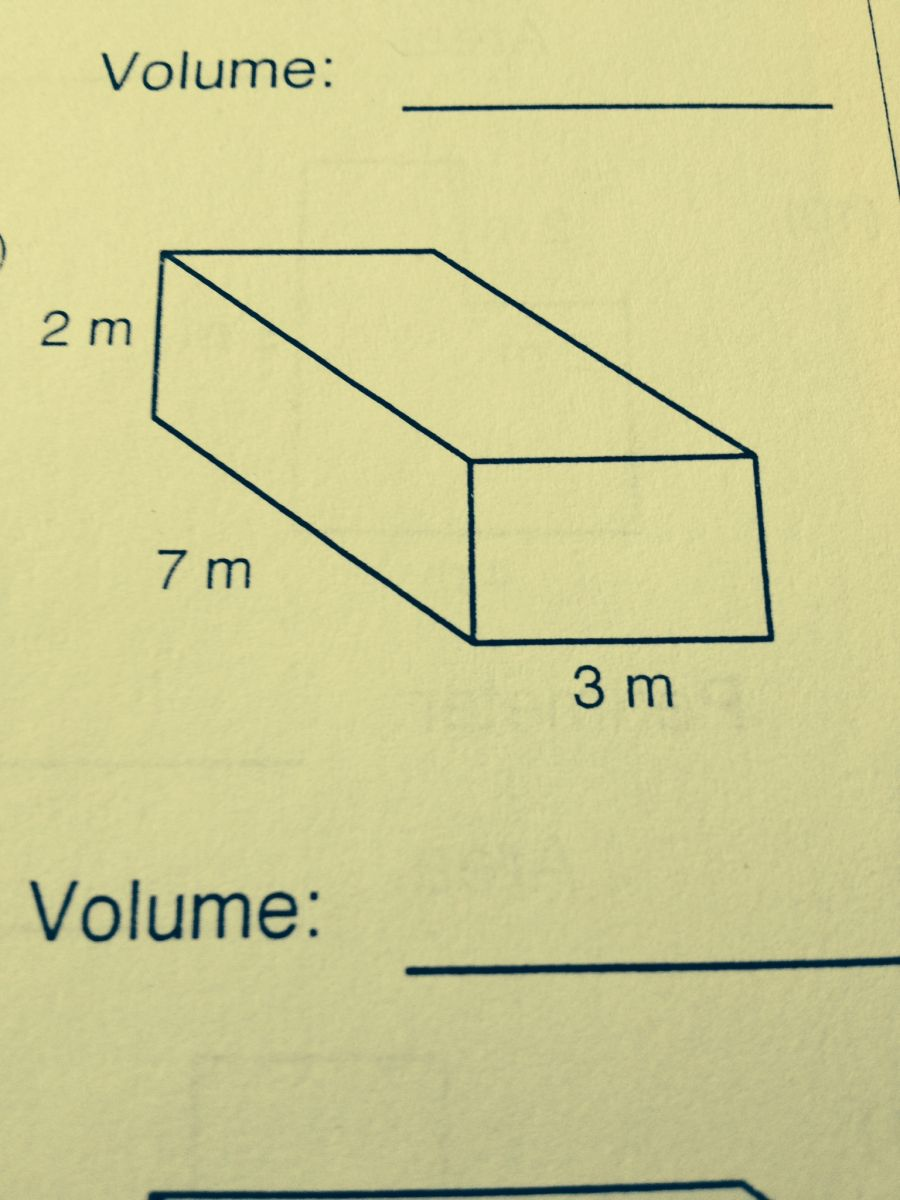 Find The Volume To The Nearest Cubic Meter