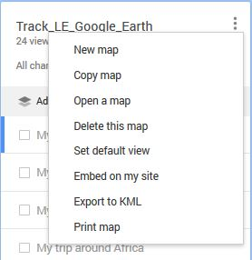 Which option allow us to save a multimedia track on google my maps on