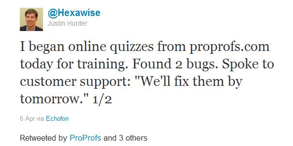 Hexawise tweets