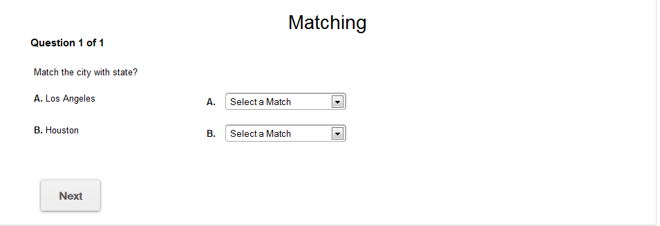 Matching Quiz Maker