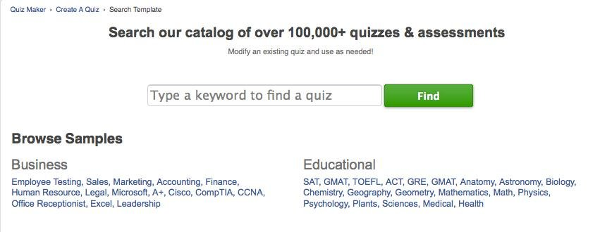 Search Quizzes