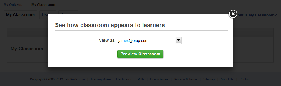 Preview Online Classrooms