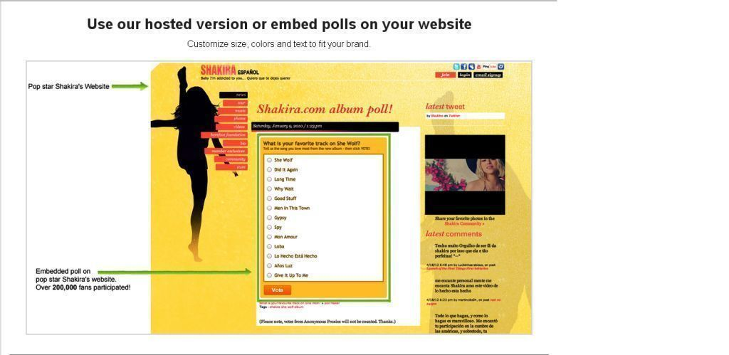 Embed Polls on Site