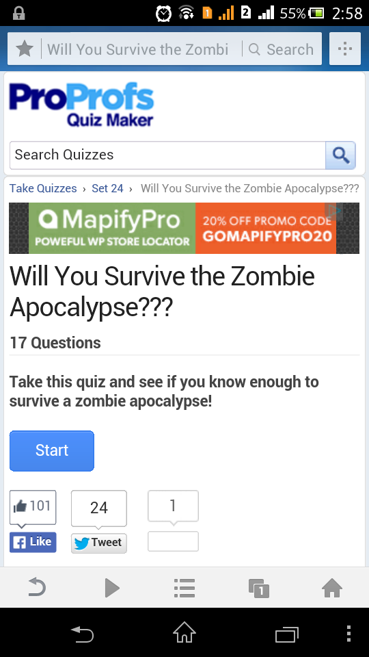 ProProfs Quiz Maker on Mobile