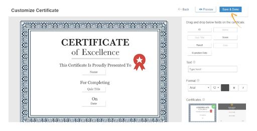 Issue Completion Certificates