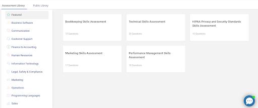 Online Assessment Using Templates