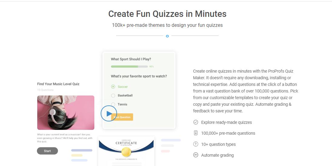 Create Fun Quizzes