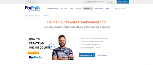 ProProfs Courseware Development Tool