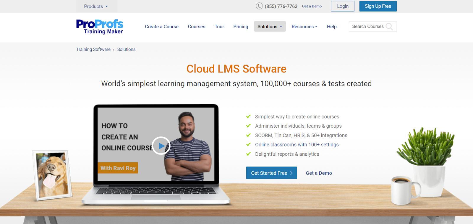 proprofs lms software