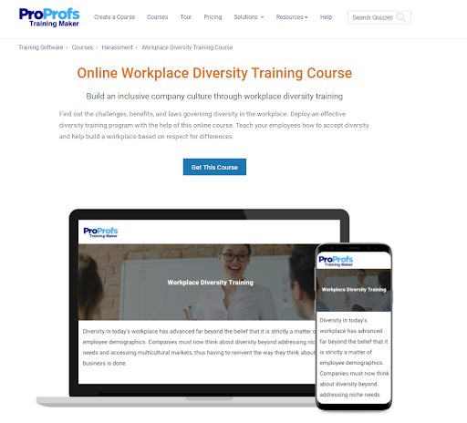 Workplace diversity training course