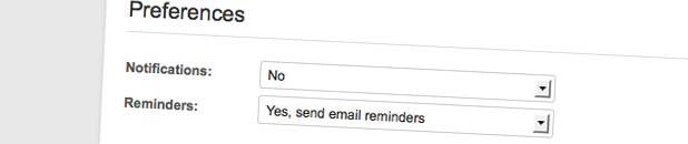 Email Reminders for Due Projects