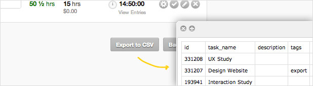 Improved CSV Export
