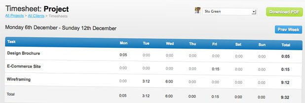 Timesheets, Time Tracking and New Stuff
