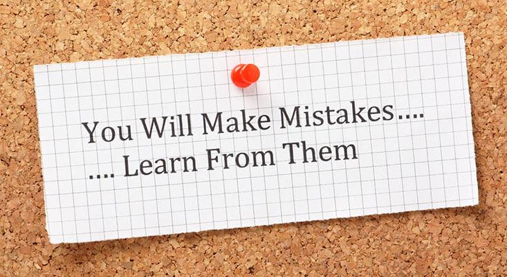 Never make the same mistake again